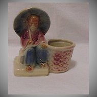Vintage Collectible Shawnee Old Chinese Man Planter USA 617 1940-50s Mint