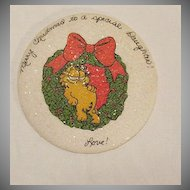Vintage Collectible Garfield Christmas Wish To A Special Daughter Plaster Plaque Mint
