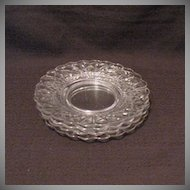 """(4) Vintage Cambridge 8 1/2"""" Crystal Luncheon Plates Caprice Pattern 1940-57 Excellent Condition"""