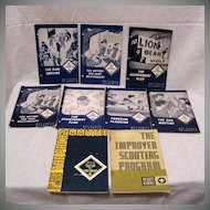 (9) Vintage Pamphlet Guides For Cub Scout Leaders