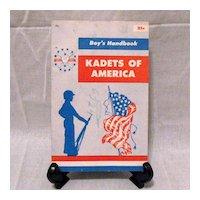 Vintage Collectible Kadets Of America Boy's Handbook 1956 Very Good Condition