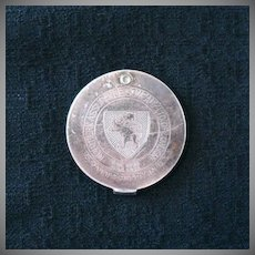 Vintage 1929 Advertising Token for Northern Assurance Co Ltd of London Celebrating Their 75th Year in The USA Sterling Silver