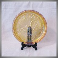 Vintage Fenton United States Bicentennial Marigold Plate Mint Condition 1974-76
