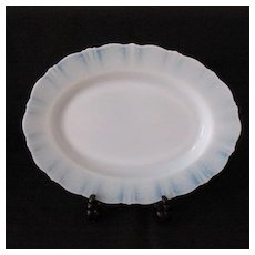 """Vintage American Sweetheart 13"""" Oval Monax Platter by MacBeth-Evans 1930-36 Mint Condition"""