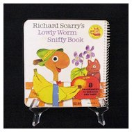 15% OFF Vintage Richard Scarry Book Lowly Worm Sniffy Book 1978 Excellent Vintage Condition