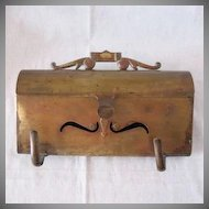 Fantastic Vintage Horizontal Brass Mail Box 1950-60s Very Good Vintage Condition
