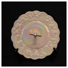 Vintage Westmoreland Embossed Grapes & Vines Serving Tray Center Handle Iridescent Color 1960s Excellent Condition