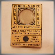 Vintage Gag Gift Video-Scope Tele Test 1960s Excellent Condition