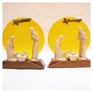 Vintage (1) Plastic Italian Nativity Scene 1950s Excellent Condition