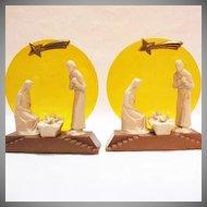 Vintage (1) Plastic Italian Nativity Scene 1950s Excellent Condition