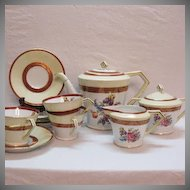Vintage Noritake 11 Piece Tea Set 1950-60s  Floral Motif Very Good Condition