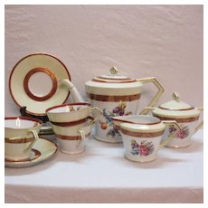 Vintage Noritake 11 Piece Tea Set 1950-60s  Floral Motif Very Good Condition
