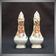 Vintage Collectible Tall Lustre Ware Ceramic S & P Shakers by T-T of Japan 1920-30s Good Condition