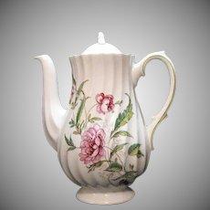 Vintage Royal Doulton Fine Bone China Mini Coffee Pot Clovelly Pattern 1941-61.
