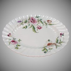 Vintage Royal Doulton Fine Bone China 10 Inch Oval Vegetable Bowl Clovelly Pattern Very Good Condition