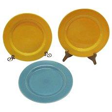 Vintage Homer Laughlin 3 Harlequin Salad Plates 1937-64 Very Good Condition