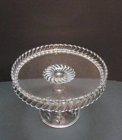 Vintage Antique Adam S Amp Co Plume Pattern Cake Stand