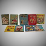 (9) Vintage Whitman Tiny Tale Books 1942-1960 Fair to Very Good Condition