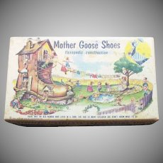 Vintage Mother Goose Shoes Shoe Box 1954 Good Condition