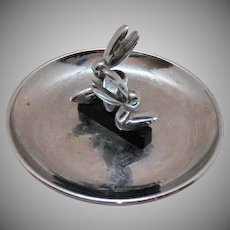 Vintage Hamilton Pincherette Pelican Chrome Astray With Swivel Match Holder 1950s Good Condition