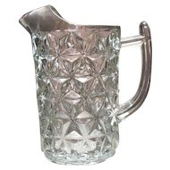 Vintage Imperial Crystal Pitcher with Ice Lip Mt. Vernon Pattern 1920-70s Very Good Condition