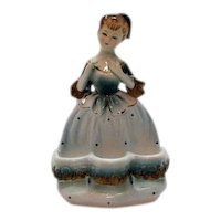 Very Unusual Vintage Ceramic Lady Spool/Lip Stick  Holder 1950s Very Good Condition