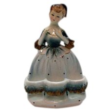 Very Unusual Vintage Ceramic Lady Spool/Lip Stick  Holder 1950s Very Good Condition