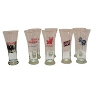 Vintage Pilsner Beer Glasses 1950-60s Excellent Condition