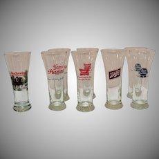 Vintage Pilsner Beer Glasses 1950-60s Excellent Condition