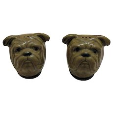 Vintage Rosemeade Bull Dog S & P Shakers Excellent Condition