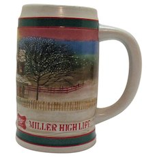 Vintage Miller High Life Beer Stein 1980s Very Good Condition