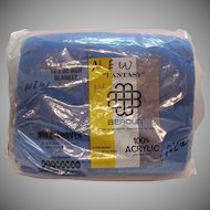 Vintage Beacon Blue Blanket Acrylic New in Package 72x90 Like New Condition