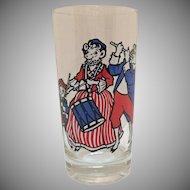 Vintage (6) Borden's Bi-Centennial Patriotic Glasses Original Box Very Good Condition