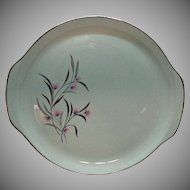 Vintage Universal Pottery Co. Chop PLate Straw Flower Motif 1934-56 like New Condition