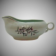 Vintage Universal Pottery Co. Gravy/Sauce Boat Straw Flower Pattern 1934-56 Good Condition