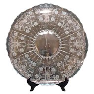 Vintage Viking/New Martinsville 18 Inch Crystal Serving Plate Prelude Pattern 1930-50s Very Good Condition