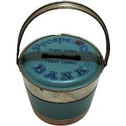 Vintage J. Chein & Co Prosperity Tin Still Bank 1930-40s Good Condition