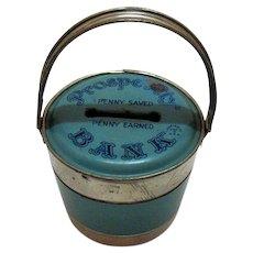 Vintage J. Chein & Co Prosperity Tin Still Bank 1930-40s Good Condition