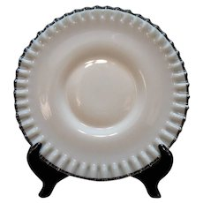 Vintage Fenton Silver Crest Low Footed 10 ½ inch Cake Plate 1952 Very Good Condition