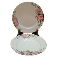 Vintage 2 Noritake Salad Plates Azalea Pattern #19322 Very Good Condition