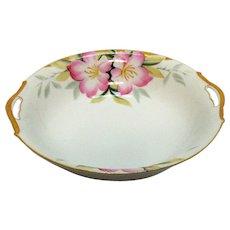 Vintage Noritake Round Vegetable Bowl Open Handles Azalea Pattern #19322 Very Good Condition