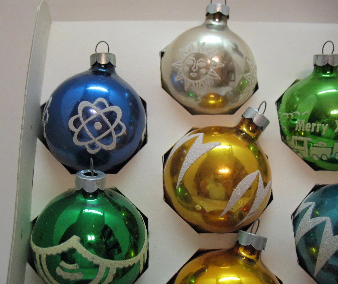(10) Vintage Christmas tree Glass Ornaments by Noelle USA ...