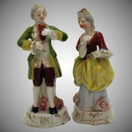 Vintage Occupied Japan Figurines Colonial Couple Very Good Condition