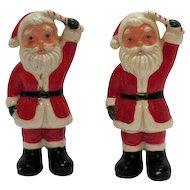 Vintage Santa Claus S&P Shakers 1950s Good Condition
