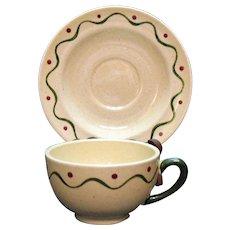 Vintage Metlox Vernon Poppytrail California Provincial (15) Cup & Saucer Sets 1956-82 Very Good Condition