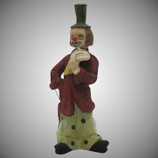 Vintage Capodimonte Style Hand Crafted Porcelain Clown Figurine 1970-80s Good Condition