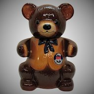 Vintage Regal China Teddy Bear Kraft Marshmallows Cookie Jar 1982 Very Good Condition