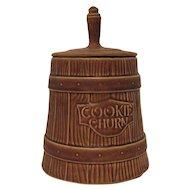 Vintage American Bisque Cookie Jar Butter Churn 1960s Good condition