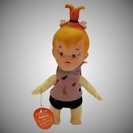 Vintage Pebble Flintstone Figure Soft Plastic/Vinyl Dakin for Hanna-Barbera Studios 1960s Good Condition