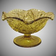 Imperial Pressed Glass Bowl Footed Marked IG Pre 1972 Very Good Condition